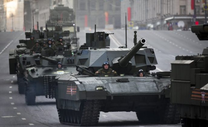 The new Russian T-14 Armata with the latest in Tank Technology