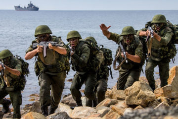 WORLDS MOST DANGEROUS Russian Military Marines show their skills in Russian