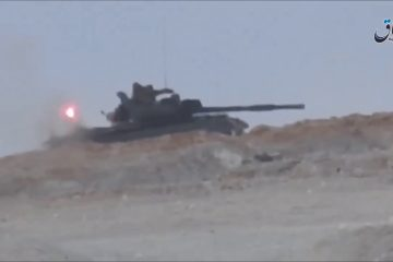 Syrian T-62M Shrugs Off an ATGM Attack & Crew Survives