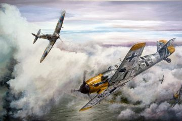 WW2 Fighters: The Supermarine Spitfire V the Messersmit BF109