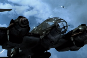 This Battle scene shows Rafe (Ben Affleck), an American pilot volunteering to serve with the British Royal Air Force, taking off to combat an aerial attack by a formation of German bombers and fighters attacking England.