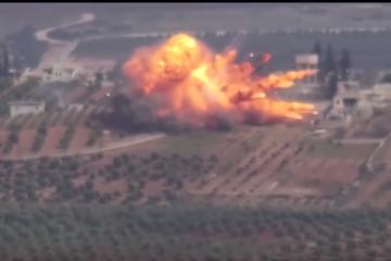 Kurdish female fighters destroy invading Turkish Leopard 2 tank in Afrin region