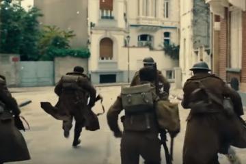 War Movie Scene from Dunkirk