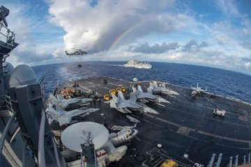 Carrier Strike Group In South China Sea