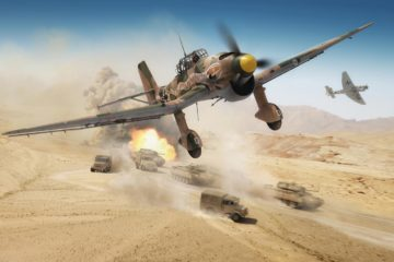 stuka shot down in the Desert