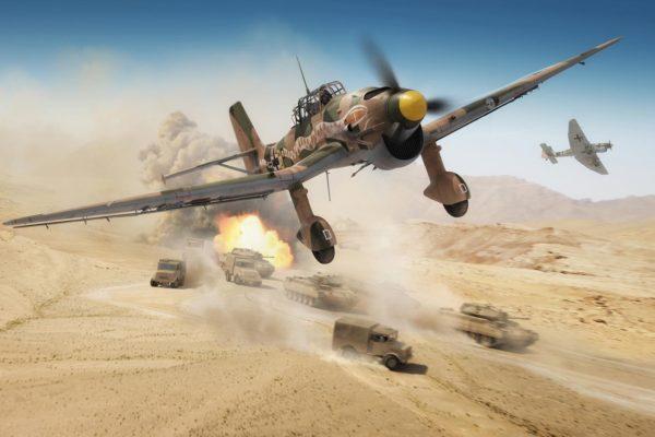 stuka shot down in the Desert