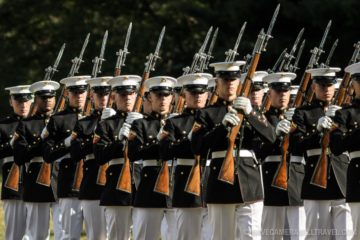 Watch the Amazing US Marine Corps Silent Drill Platoon Perform at the Sunset Parade