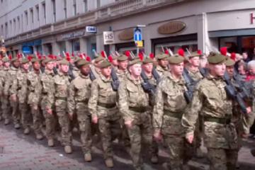 Scots Black Watch Homecoming Parade