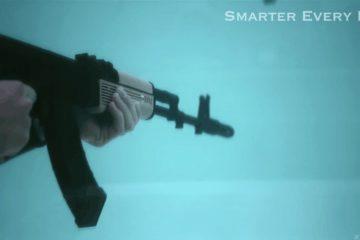 Firing an AK-47 Underwater