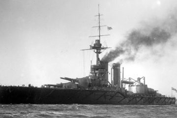 HMS Audacious was the fourth and last King George V-class dreadnought battleship built for the Royal Navy in the early 1910s. After completion in 1913, she spent her entire career assigned to the Home and Grand Fleets.