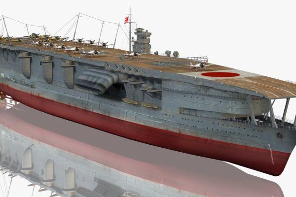 Japanese WW2 Aircraft Carrier Akagi in 3D