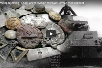 Lost Panzer division relics at German medical post