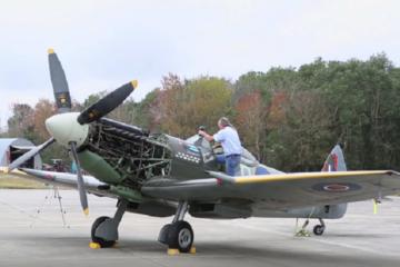 Spitfire MK XVI - First Engine Run in 17 Years!