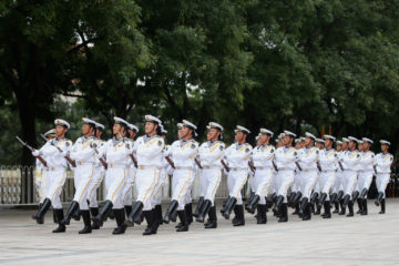 Daily training Chinese naval honor guard 2