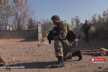 Ukraine War - Helmet Cam Firefight Combat Footage: Novorossian Rebel Attack On Ukrainian Checkpoint