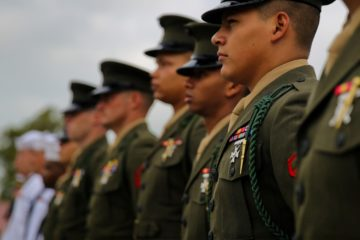 Marines wear French unit award honoring Fighting Fifth legacy