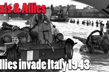 Allied invasion of Salerno Italy during WW2