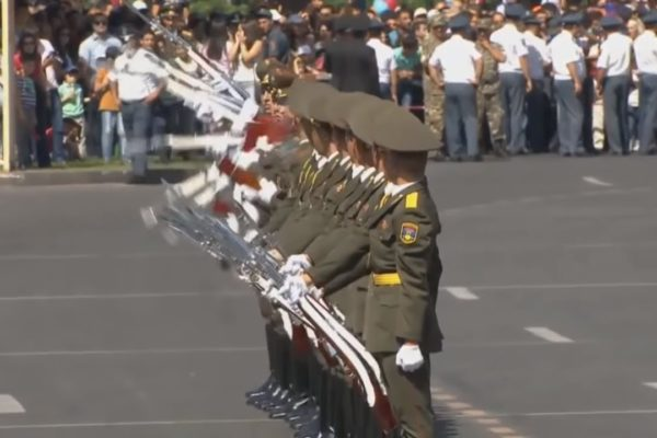 Here is an Armenian Military Parade with excellent Arms Drill