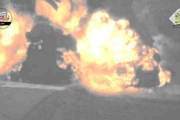 MASSIVE Explosion as BGM-71 TOW Missile Hits a T-72 Tank in Syria