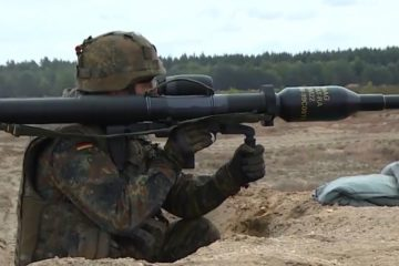 Panzerfaust 3 Anti-Tank Weapon In Action