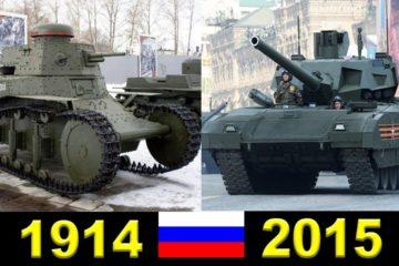 Evolution Of Russians Tanks (1914 - 2015)