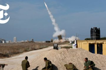 Iron Dome in Action in Israel : Shooting Down Rockets