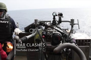 Powerful & Devastating Mk 38 Machine Gun [ M242 Bushmaster ] - US Navy Sailors Live Fire