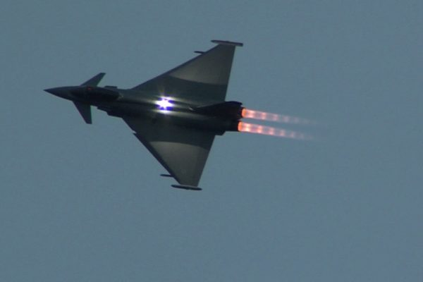 September 2016 the RAF Typhoon Evening display at the Scottish International Airshow
