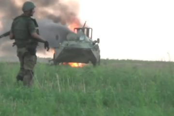 Ukraine War - Failed Pro-Russian Attack: Combat Footage Caught In Open Field