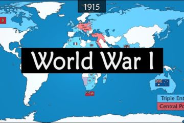 World War One - Origins, Events and Consequences Summarized on a Map