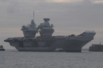 HMS QUEEN ELIZABETH R08 IN THE SOLENT RETURNING HOME FROM WESTLANT 18 - 10th December 2018