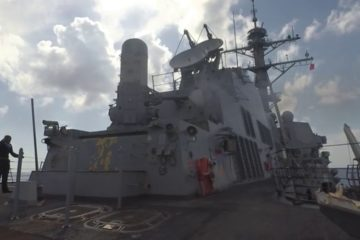 USS Spruance Crew Served Weapons Training