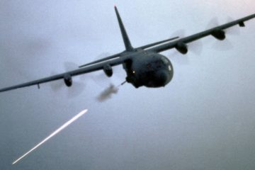 Angel of Death AC 130 Gunship in Action Firing All Its Cannons Live Fire Range