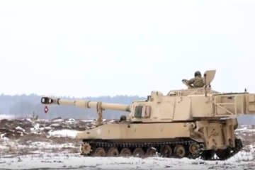 Battle Group Poland performs Live Fire Training