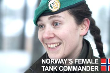Norway's female tank commander