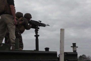 Watch US Marines shoot a M240B Machine Gun off a Boat