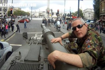 Driving a Tank Past Big Ben & Downing Street In London