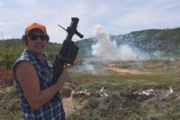LG 440 40mm Grenade Launcher Firing Exploding Rounds