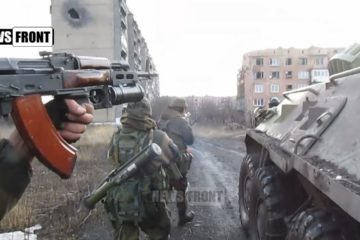 Combat footage: NAF troops entering Tchernukhino