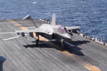 USS Wasp Conducts F 35B Flight Operations Feb 2019