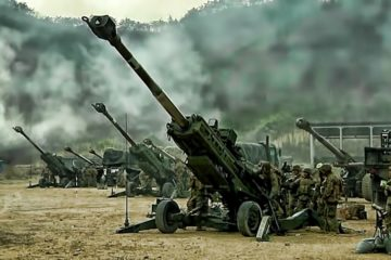 Artillery Battery Barrage • U.S./ROK Marines Live-Fire