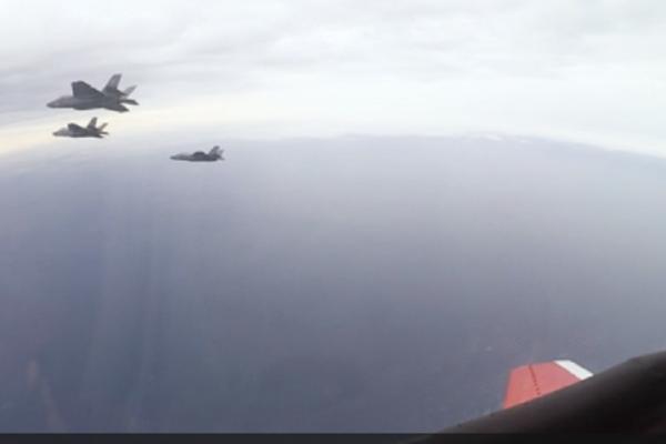 Three F-35C Lightning