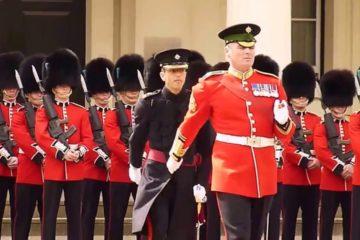 Inspection .1 st Battalion Irish Guards