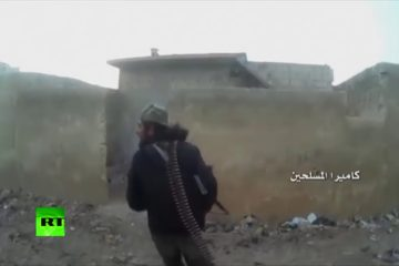 Killed in combat -Al-Nusra militants in chaotic urban warfare in Syria (POV cam footage)