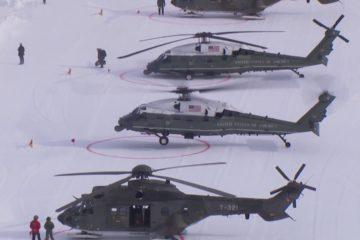 President Trump Landing in Davos/Switzerland