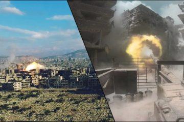 The Last Battle near Damascus Syria