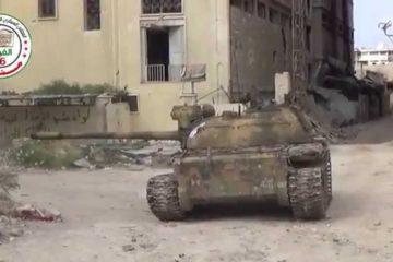 Video : Rebel Tank in Aleppo Syria