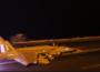 nighttime flight operations aboard the Nimitz-class aircraft carrier USS Abraham Lincoln
