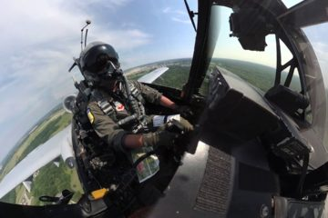 A 10 Demo Team practices for Wings Over Whiteman AirShow