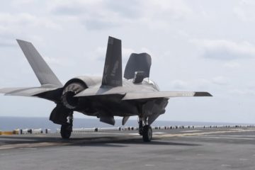 F-35B Lightning II Operations aboard Amphibious Assault Ship USS Wasp (LHD 1).